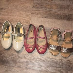 Toddler Girls Size 8 Bundle of Shoes